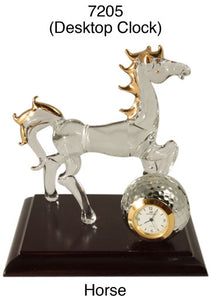 6 Horse Desktop Clocks