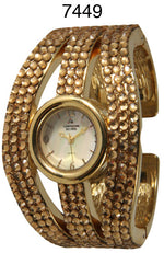 Load image into Gallery viewer, 6 Women's Rhinestone Cuff Watches