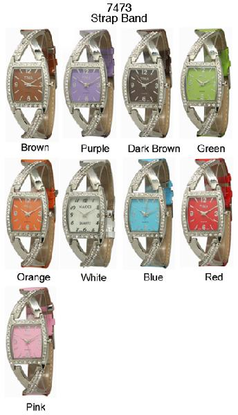 6 womens rhinestone watches
