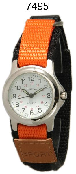 6 Geneva velcro strap watches