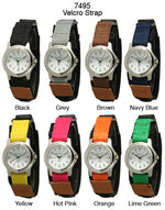 Load image into Gallery viewer, 6 Geneva velcro strap watches