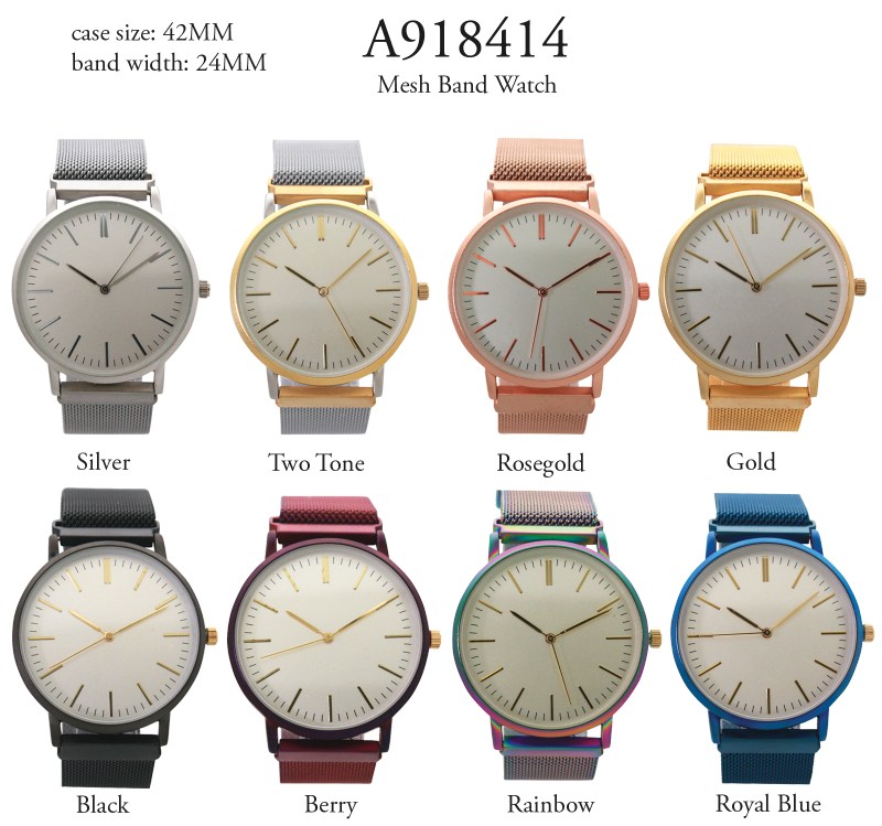 Large Face Mesh Watch 6pcs