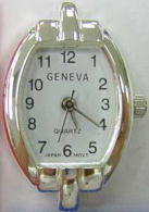 12 Geneva Silver tone contemporary style watch faces