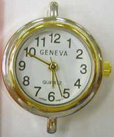 12 Geneva  Two tone contemporary style watch faces