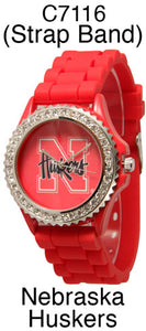 6 Nebraska Huskers Licensed Collegiate Watches
