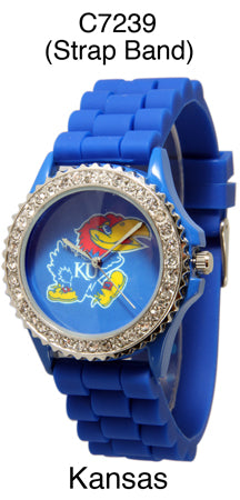 6 kansas Licensed Collegiate Watches