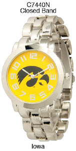 6 Iowa Licensed Collegiate Watches