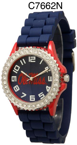 6 Ole Mississippi Licensed Collegiate Watches