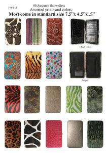 50 Assorted Flat Wallets