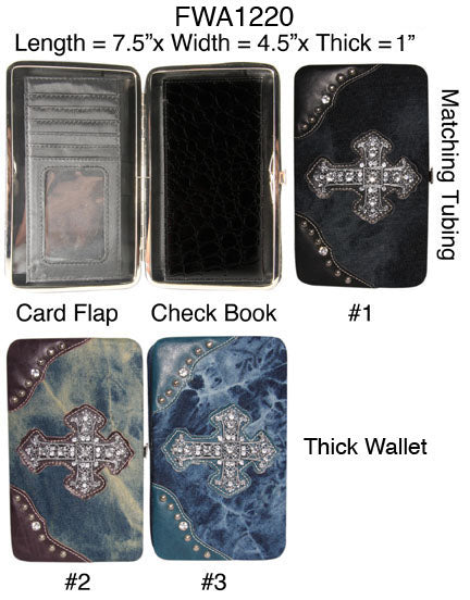 6 Womens flat wallets