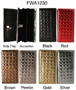 6 Accordion Style Wallets