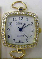 12 Gold Rhinestone Loop Watch Faces