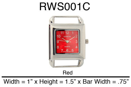 6 Square Solid Bar Watch Faces