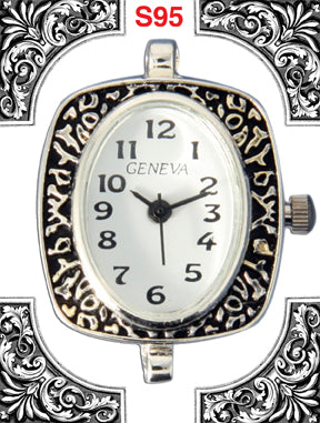 12 silver tone beading watch faces