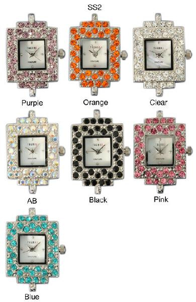6 Austrian Crystal Watch Faces