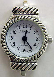 12 silver tone beadingwatch faces