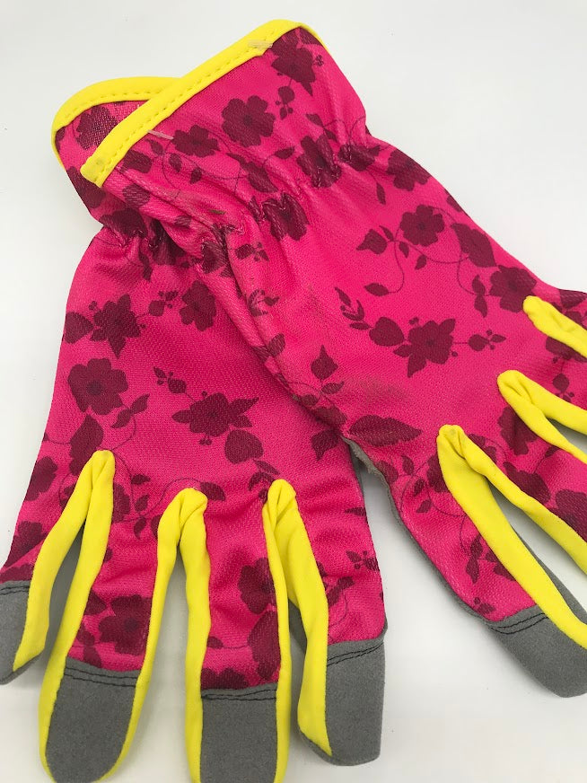 Woman's Lightweight Gardening Gloves  in Green Leaves