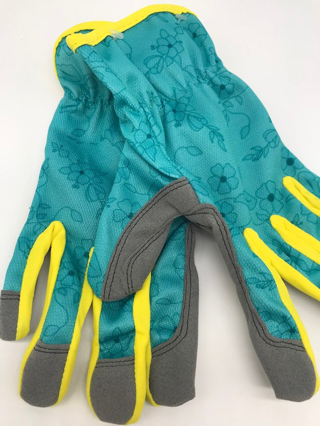 Woman's Lightweight Gardening Gloves  in Pink Paisley