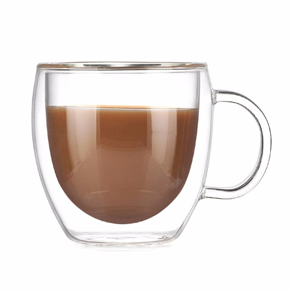 Double Layer Coffee Mug With Handle