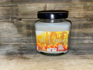 Fall Leaves Jar Candle