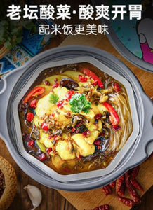 Zi Hai Guo Fish with Pickled Vegetable Self Heat Sweet Potato Noodles 自嗨锅 酸菜鱼自热锅 (红薯粉)
