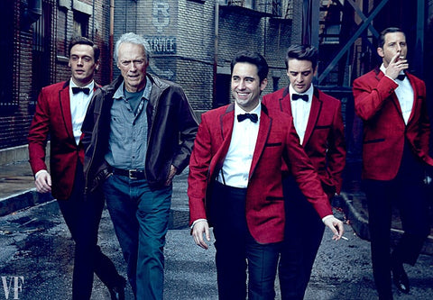 Erich Bergen, Clint Eastwood, John Lloyd Young, Vincent Piazza, and Michael Lomenda. Photo by Annie Leibovitz for Vanity Fair.