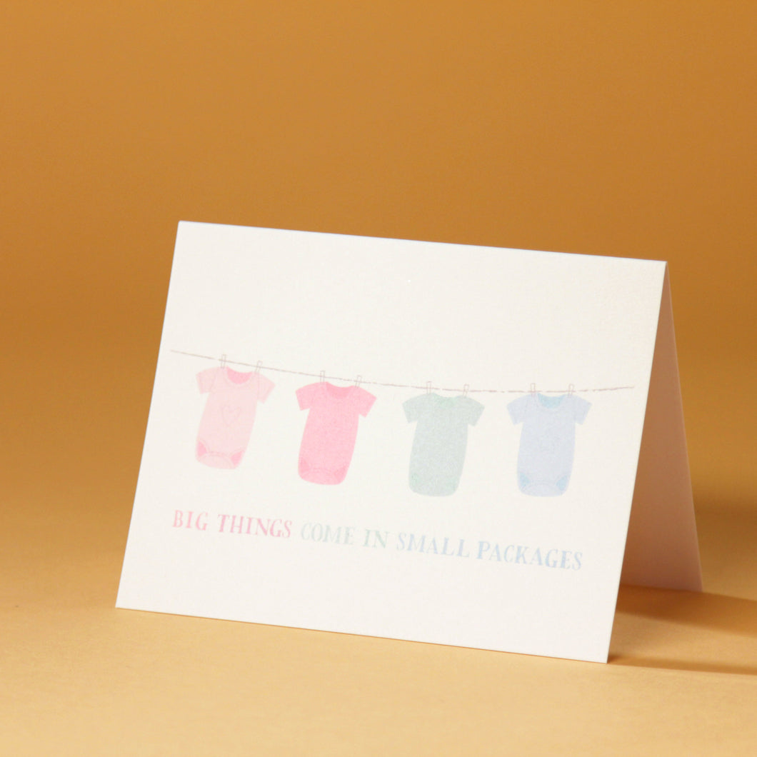 Big Things Small Packages - Baby Card