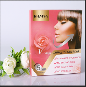 V-Line Lifting Chin Up Patch V Shaped Slimming Face Mask 5pcs (Rose)