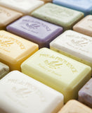 Traditional French soap is triple-milled to produce a completely uniform and smooth soap, without impurities, thus lasting longer.