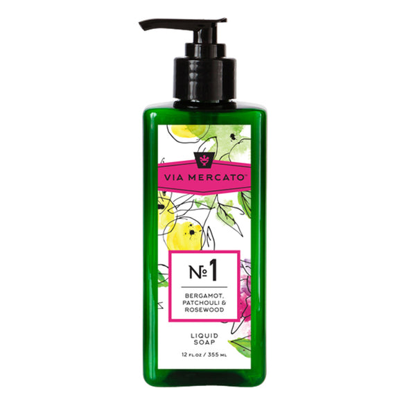Via Mercato Liquid Hand Soap No 1 - Bergamot, Patchouli & Rosewood