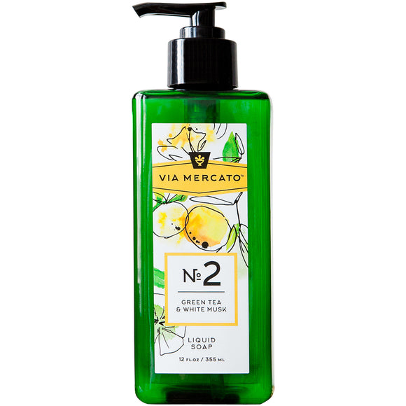 Via Mercato Liquid Hand Soap No 2 - Green Tea & White Musk