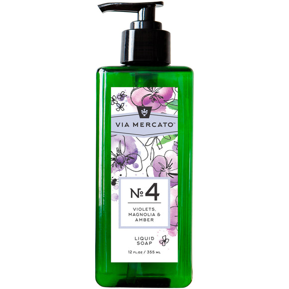 Via Mercato Liquid Hand Soap No 4 - Violet, Magnolia & Amber