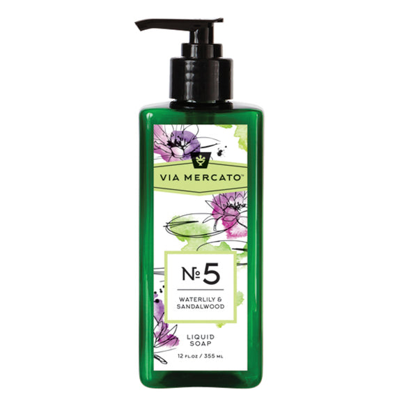 Via Mercato Liquid Hand Soap No 5 - Waterlily & Sandalwood