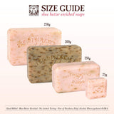 250 gram bar soap measures 4x1.375x2.75""
