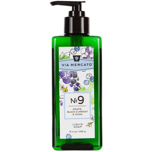 Via Mercato Liquid Hand Soap No 9 - Grape, Blackcurrant & Musk