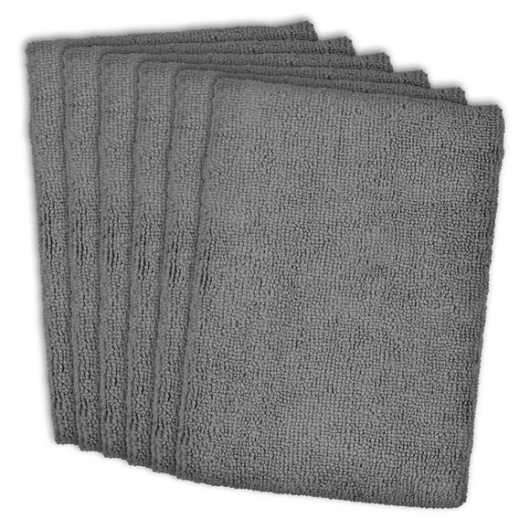 Gray Essential Microfiber Dishtowel Set/6