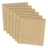 TAUPE MICROFIBER ESSENTIAL DISHCLOTH SET/6