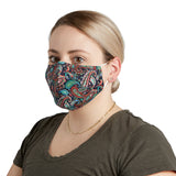 NAVY PAISLEY FACE MASK