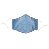 "Cloth face covering is one size fits most adults, measures 4 x 5"" with adjustable ear straps for a comfortable fit"