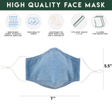 BLUE CHAMBRAY FACE MASK