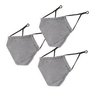 Face Mask B&W Gingham Set Of 3