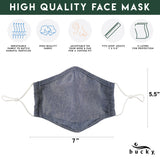 FACE MASK DENIM CHAMBRAY SET OF 3