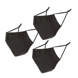 Face Mask Solid Black Set Of 3