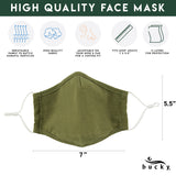FACE MASK OLIVE SET OF 3