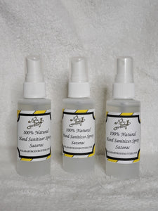 100% Natural and Sanitizer Spray-Sazerac