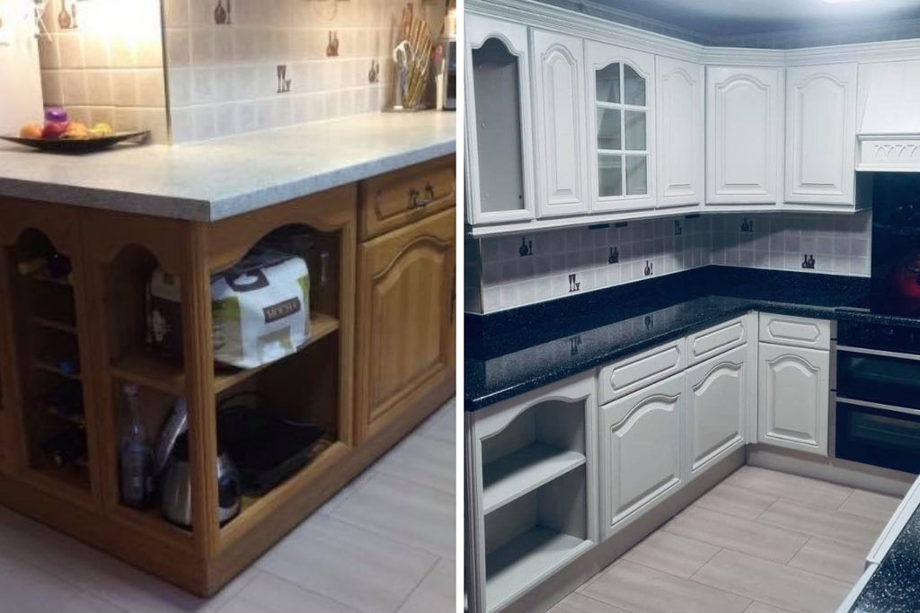 affordable kitchen upgrade facelift before and after