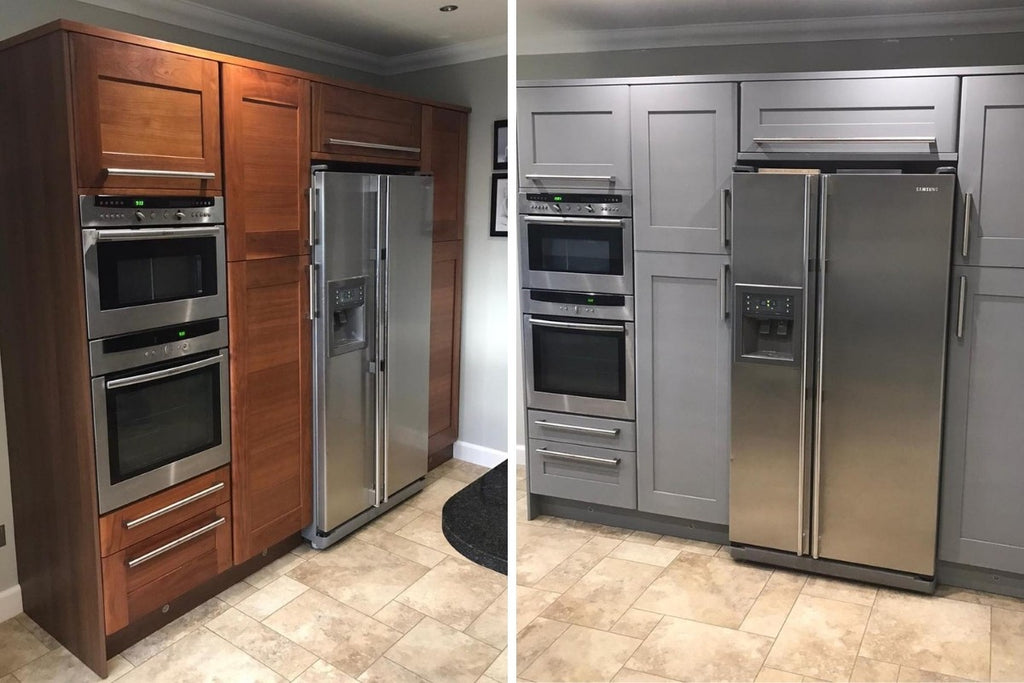 kitchen cabinets facelift repaint affordable before and after
