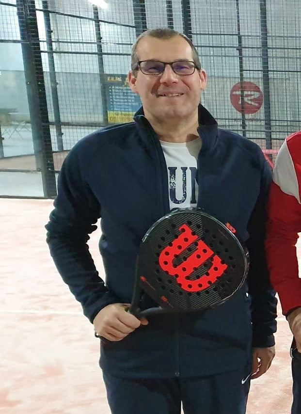 M.Bisson who plays with Wilson Padel racquet
