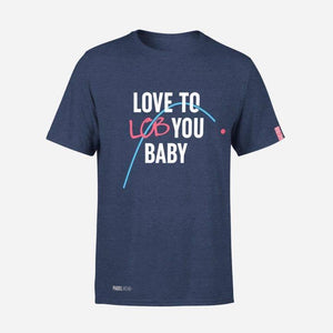 "L'intitulé chambreur ""Love to you lob baby"""