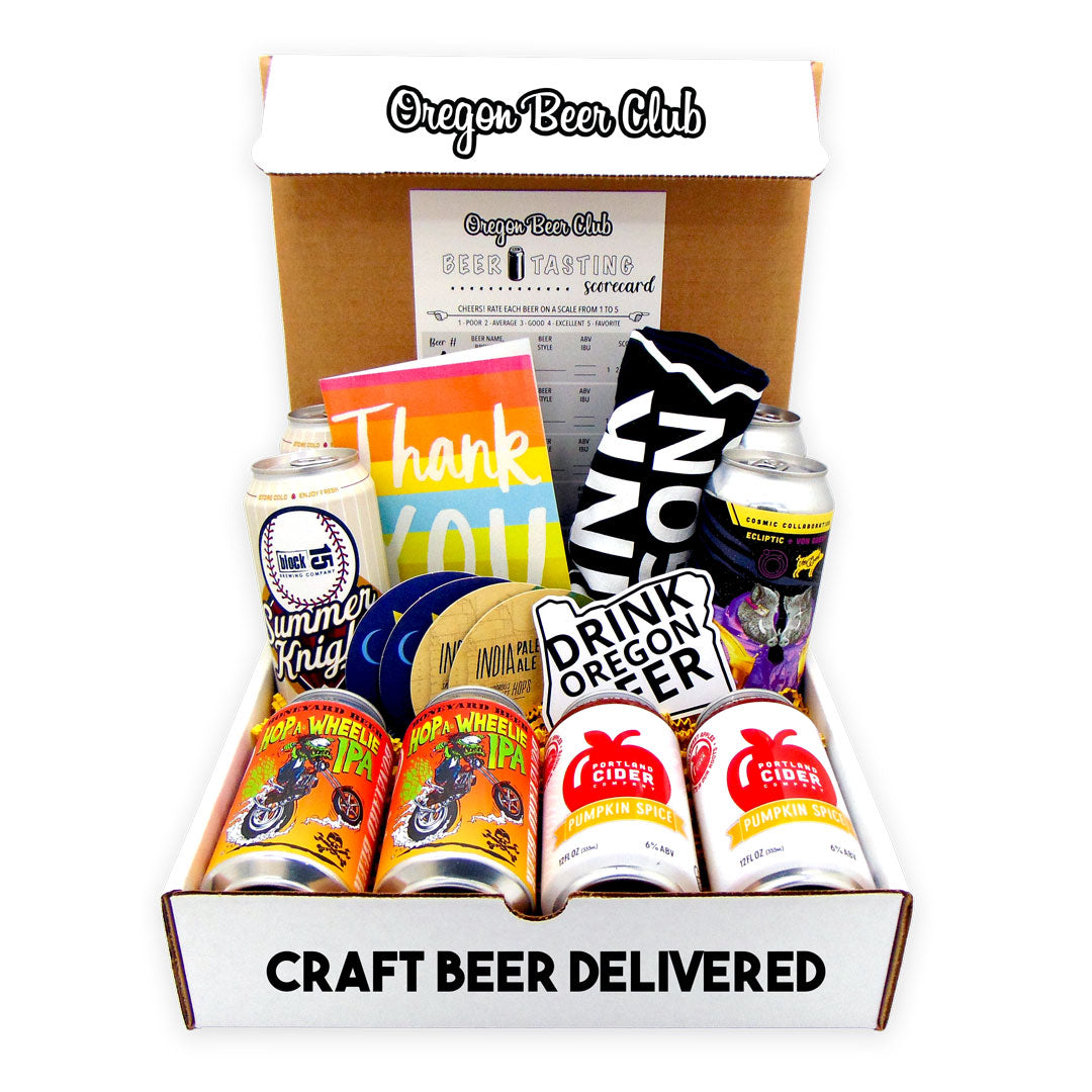 Oregon Beer Club Subscription Box and Gift Basket